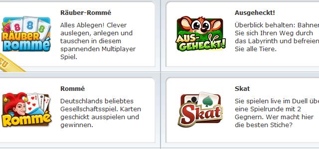 Gameduell mit vielen Browsergames